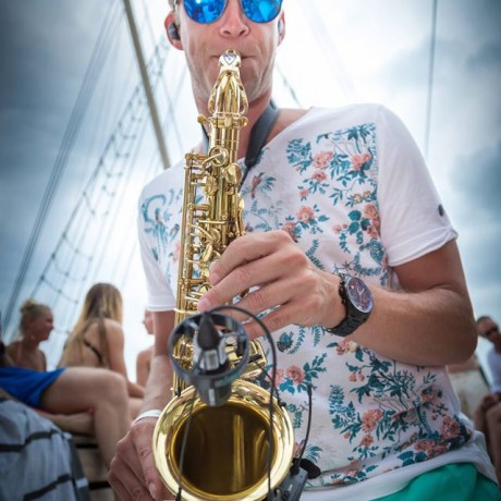 Wayland Falko on Sax Ibiza